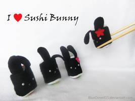 I heart Sushi Bunny by BlueDove415
