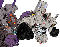 Metroplex and Trypticon by Dairugger