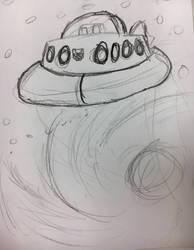 Cosmos sketch  by Crasher55