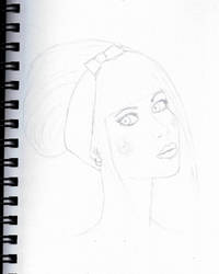Beautiful girl sketch by grabapillow