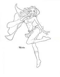 Supergirl WIP inks by TijuanaBibleScholar