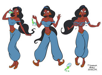 Princess Jasmine Inflation Sequence by TijuanaBibleScholar