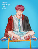 Happy Jungkook Day! by anzukeiarts