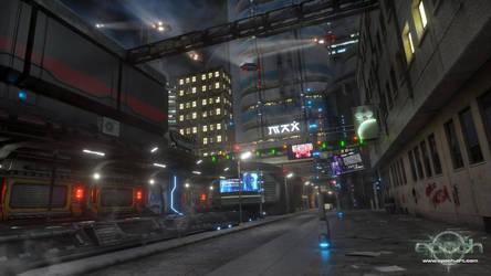 'Into Ruin' Cityscape by Epoch-Art