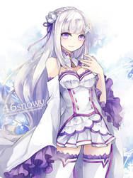 re:zero - Emilia by 46snowy