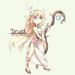 OC - Druid by 46snowy