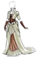 Steampunk Wedding Dress 002 by daestwen