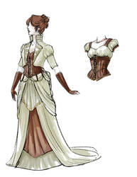 Steampunk Wedding Dress Revamp by daestwen