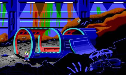 Commander Keen in Space Quest 3 by guynietoren