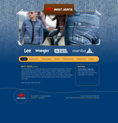 Jeans shop webdesign by 125ml