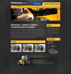 Forklift webdesign by 125ml