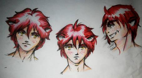 Male Anime face profile by SingingPilgrim
