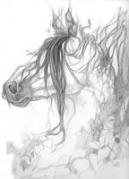 Tree Horse Sketch by Aikya