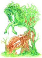 _Tree Horse Concept Art_ by Aikya