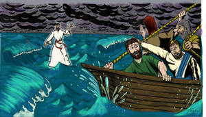 Jesus on the water by captblitzdawg