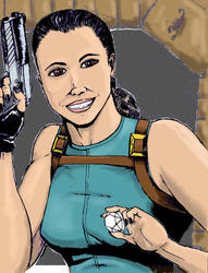 Tomb Raider colors by captblitzdawg