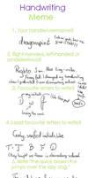 Handwriting Meme by 6dragonfly9