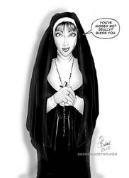 Ashley the Nun1 by Bikerbloke