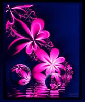 Flowers in lake by ingunn88