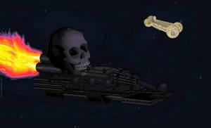 skull cruiser!!! by ctdsnark