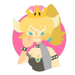 smug bowsette by Redspandaart