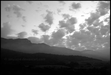 Misted Mountains by AinuLaire