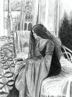 Arwen Reading by AinuLaire