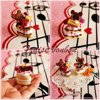 Rilakkuma Biscuit Cake by Fraise-Bonbon