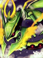 Mega Rayquaza!! by UsaLuv