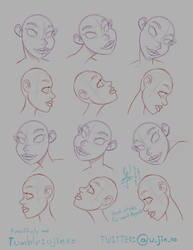 Head style practice, for some projects ^__^. by ujinko