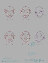Head style practice, for some projects 2 ^__^. by ujinko