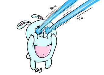 Laser Attack Bunny by Gregatron