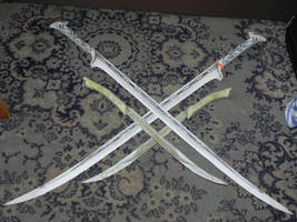 Mirkwood royal weaponry (paper) by MorellAgrysis