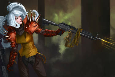 Chica Arma by Marcilustra