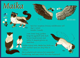 Maika reference sheet by Haawan