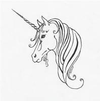 Unicorn Tattoo Design by Haawan