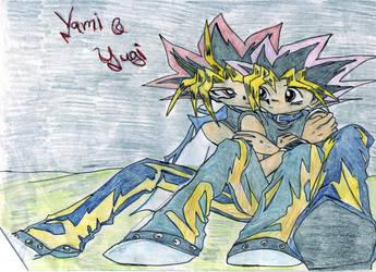 Yami x Yugi Pairing by NightmareAngel007