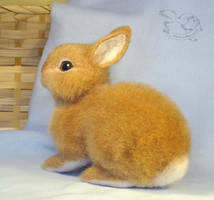 Needle Felted Rabbit by YuliaLeonovich
