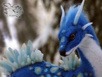 Needle felted fantasy dragon. by YuliaLeonovich