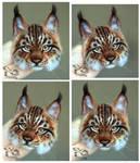 Needle Felted Brooch lynx by YuliaLeonovich