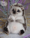 Needle Felted Hedgehog by YuliaLeonovich