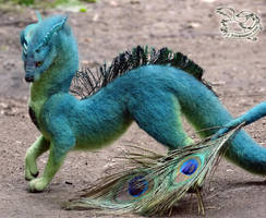 Needle felted fantasy dragon by YuliaLeonovich
