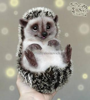 Needle Felted Hedgehog by YuliaLeonovich