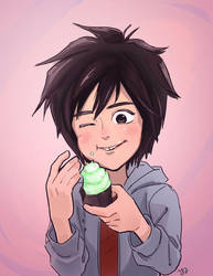 hiro with cupcake by Yukinat