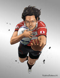 Rugby Japan team by Yukinat