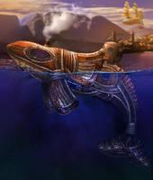 Steampunk Orca by LunarRoseFX