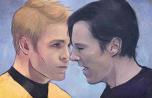 Khan and Kirk for botanycameos by Everybery