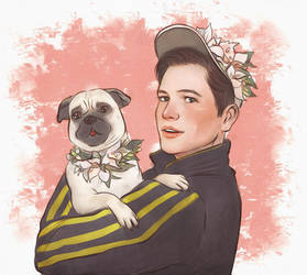 eggsy with pug by Everybery