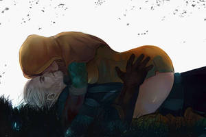 Geralt and Triss by Everybery