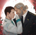 Hank x Connor wedding COMMISSION by Everybery